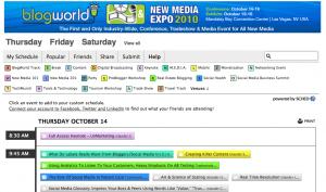 BlogWorldSchedule