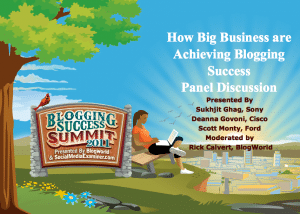 How Big Businesses Use Blogging