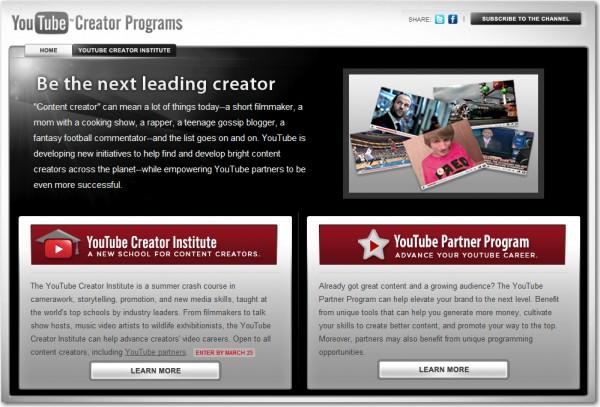 YouTube Creator Institute