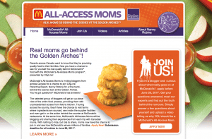 All Access Moms McDonalds canada