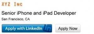 apply with linked in button