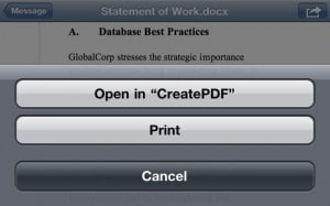 CreatPDF for the iPhone