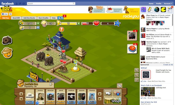 login facebook games