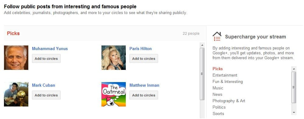 Google+ Suggested user list 01