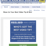 ReelSEO Facebook BlogWorld Contest