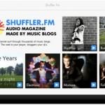 Shuffler.fm iPad screenshot