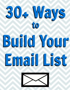 ways to build your email list