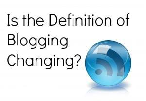 definition of blogging