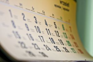 calendar blog post schedule