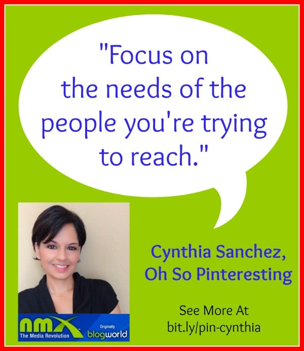 Focus on the needs of the people you're trying to reach