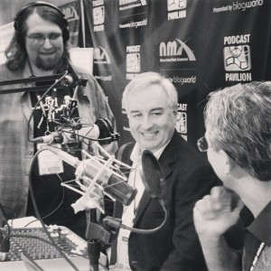 leo at Podcast Pavilion