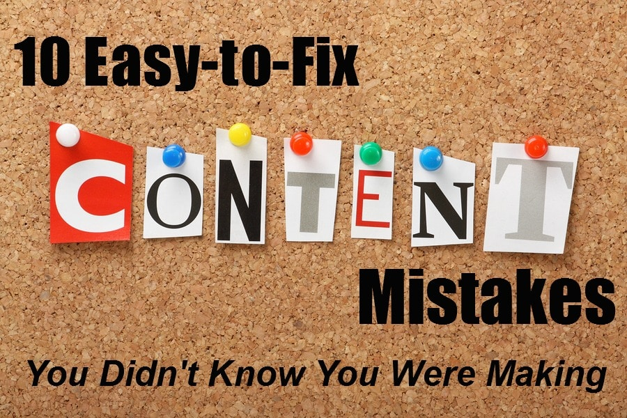 Content Mistakes
