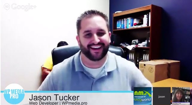 Jason Tucker on a Google Hangout On Air